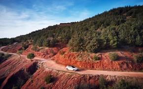 Картинка дорога, горы, транспорт, автомобиль, Ford Focus