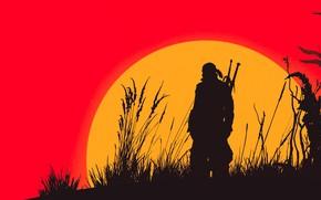 Картинка солнце, игра, The Witcher 3