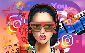 Картинка девушка, интернет, активность, социальные сети