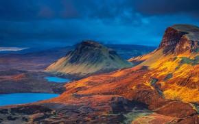Картинка горы, Шотландия, остров Скай, озеро Клит