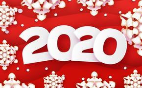 Картинка украшения, снежинки, фон, Новый год, Christmas, New Year, 2020
