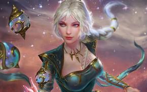 Картинка девушка, фантастика, маг, украшение, smite, empress
