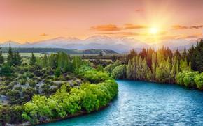 Картинка Nature, Landscape, River, Trees