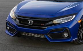 Картинка синий, капот, Honda, седан, Civic, 2020, 2019, Si Sedan