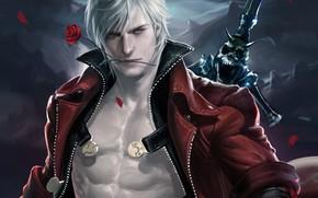 Картинка Dante, Данте, Devil May Cry, Sakimichan, Даже дьявол может плакать