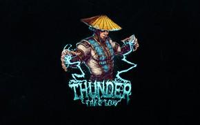 Картинка Фон, Raiden, Арт, Райдэн, Helix, by Bogdan Timchenko, Bogdan Timchenko, Минимализм, Thunder take you, Thunder …