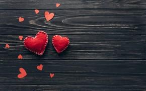 Картинка любовь, сердце, сердечки, red, love, heart, wood, romantic, valentine's day