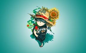 Картинка цветы, Mob Psycho 100, Кагеяма Шигео, Моб психо 100