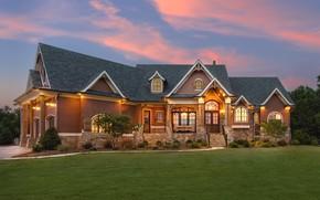 Картинка дом, особняк, лужайка