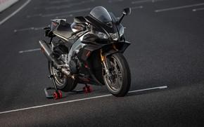 Картинка фото, Черный, Мотоцикл, Aprilia, RSV4, Factory, 2019