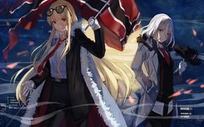 Картинка девушки, аниме, арт, Azur Lane, Bismarck Tirpitz
