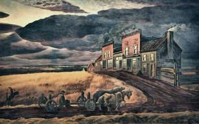 Картинка Charles Ephraim Burchfield, 1931-34, November Evening
