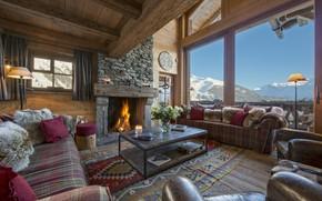 Картинка Switzerland, living room, interior, Nyumba, Verbier