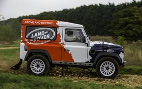 Картинка Land Rover, вид сбоку, Defender, 2013, 2014, Challenge, Bowler