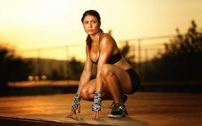 Картинка девушка, поза, фитнес