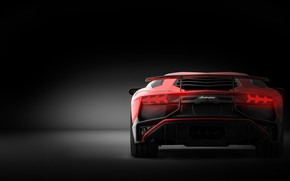 Картинка Красный, Авто, Lamborghini, Машина, Суперкар, Aventador, Lamborghini Aventador, Рендеринг, Спорткар, by Giacomo Geroldi, Giacomo Geroldi, …