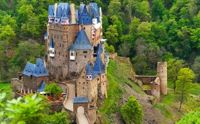 Картинка замок, Германия, архитектура, Эльц, Burg Eltz
