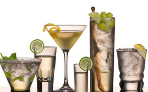 Картинка стакан, коктейль, напиток, фужер