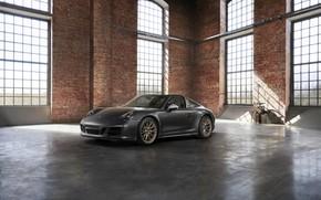 Обои Porsche, помещение, 4x4, Biturbo, тарга, спецверсия, 911 Targa 4 GTS, Exclusive Manufaktur Edition