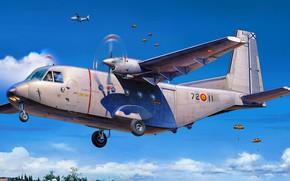 Картинка военно-транспортный самолёт, EADS CASA, C-212 Aviocar