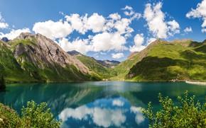 Картинка горы, озеро, Альпы, Италия, Lake Morasco