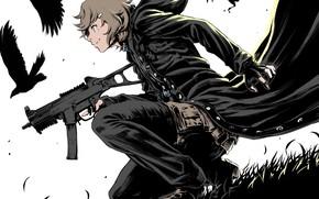 Картинка оружие, движение, арт, парень