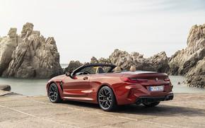 Картинка берег, BMW, кабриолет, задом, 2019, BMW M8, M8, F91, M8 Competition Convertible, M8 Convertible