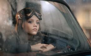 Картинка машина, портрет, девочка
