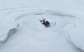 Картинка girl, snow, pose