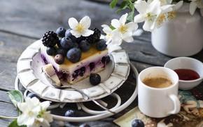 Картинка ягоды, кофе, жасмин, сырник
