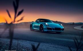 Обои 911, Porsche, 2018, GTS, Targa 4