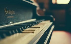 Картинка фото, пианино, боке