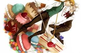 Картинка аниме, арт, сладости, парни, персонажи, D.Gray-man