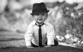 Картинка шляпа, мальчик, малыш, галстук, рубашка