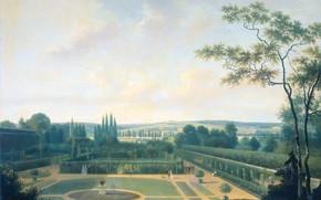 Картинка масло, картина, холст, Посол Батавской Республики в Париже в Садах Багате, Joseph August Knip, Джозеф …