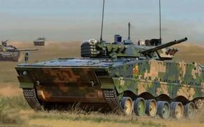 Обои КНР, БМП, китайская плавающая боевая машина пехоты, Тип 04, ZBD-04