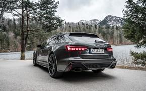 Картинка Audi, вид сзади, ABT, Avant, RS6, RS 6, 2020
