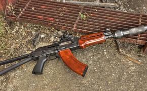 Картинка оружие, Автомат, Gun, weapon, Калашников, АКМ, Штурмовая винтовка, Русский, AKM, штурмовая винтовка, assault Rifle