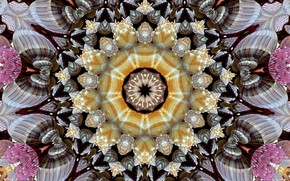 Картинка фон, узор, графика, текстура, геометрия, симметрия, мандала
