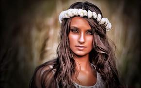 Картинка grass, brown hair, model, beauty, Alex Kotarski