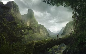 Картинка горы, путник, mountain, Solomon Kane, Africa Landscape