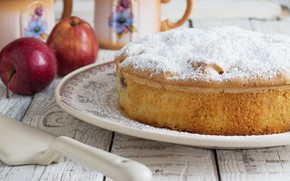 Картинка яблоки, пирог, шарлотка
