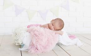 Картинка ребенок, сон, спит, девочка, мех, младенец