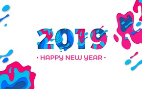 Картинка рисунок, графика, новый год, new year, 2019