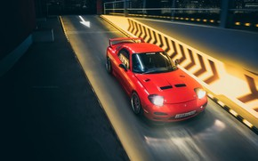 Картинка Красный, Авто, Ночь, Машина, Mazda, RX-7, Mazda RX-7, Transport & Vehicles, by Yan Kotov, Yan …