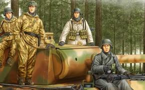 Картинка Солдаты, Танк, Pz.V Panther, Wehrmacht, Panzergrenadier