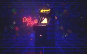 Картинка Музыка, Игра, Ретро, Стиль, Фон, 80s, Style, Neon, Illustration, Винтаж, 80's, Synth, Retrowave, Synthwave, New …