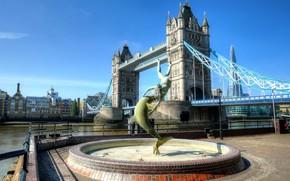 Картинка мост, Англия, Лондон, Темза, набережная