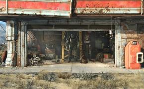 Картинка Bethesda, Fallout 4, Силовая броня, Начальный экран
