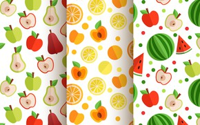 Картинка Apple, текстура, Orange, фрукты, Color, patterns, fruit